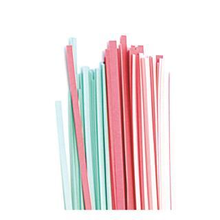 Quilling Papierstreifen 3 mm  pink / grün (264)