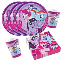 36-teiliges Party-Set My little Pony 2017 - Teller Becher...