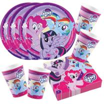 52-teiliges Party-Set My little Pony 2017 - Teller Becher...