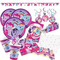 68-teiliges Party-Set My little Pony 2017 - Teller Becher...