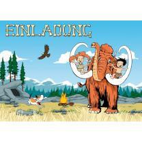 Steinzeit Party -  Einladung Postkarte