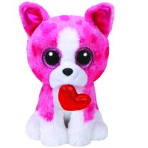 TY Beanie Boos 36864 - Romeo - Hund pink mit Herz, 15 cm...