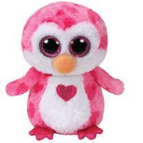 TY Beanie Boos 36865 - Juliet - Eule pink mit Herz, 15 cm...