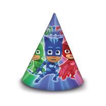 PJ Mask Pyjamahelden Hütchen aus Pappe, 6 Stück
