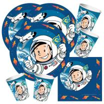 52-teiliges Party-Set Astronaut Flo - Teller Becher...
