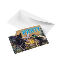 Lego Ninjago - Einladungskarten mit Umschlag, 8 Stück