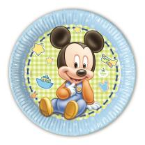 Disney Baby Mickey  1. Geburtstag - 8 Teller - Pappteller...