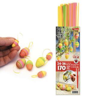 Karen Marie 3D Quilling Eier - grün / gelb / orange / pink (208)