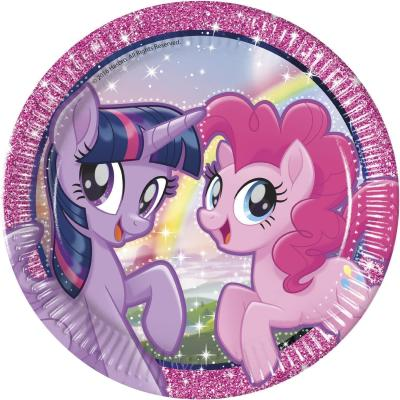 52-teiliges Party-Set My little Pony and Friends  2018 (procos) - Teller Becher Servietten für 16 Kinder