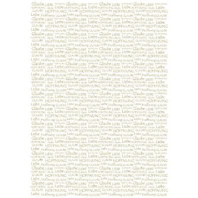 """Ursus Designkarton """"Gold"""" Liebe, Glaube Hoffnung 200 g/m² DIN A4 - 1 Blatt"""