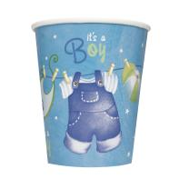 Baby Party -  Babystrampler Junge  -  Becher, Pappbecher,...