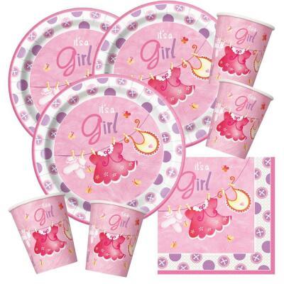 Einhorn Mädchen Rosa Serie Geburtstag Party Geschirr Teller Tassen Servietten