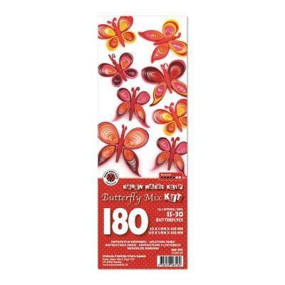 Quilling Schmetterlinge - rot (291)