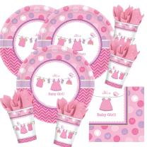 48-teiliges Party Set Baby Shower With Love - Girl -...