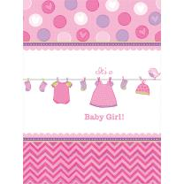 Baby Party  -  Shower With Love - Girl - Tischdecke, 138...