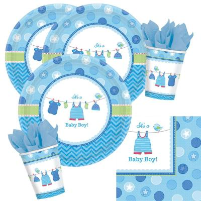 32-teiliges Party Set Baby Shower With Love -Boyl - Teller, Becher, Servietten für 8 Personen