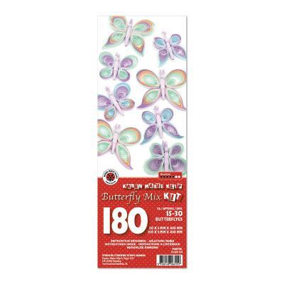 Quilling Schmetterlinge - pastell (104)
