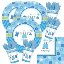 48-teiliges Party Set Baby Shower With Love - Boy -...