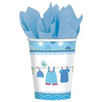 Baby Party  -  Shower With Love - Boy -  Pappbecher, 267...