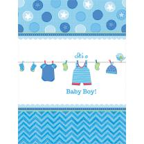 Baby Party  -  Shower With Love - Boy - Tischdecke, 138 x...
