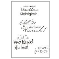 Efco (016) clear stamps Stempel Set - klitzekleine...