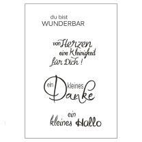 Efco (017) clear stamps Stempel Set - du bist wunderbar -...