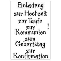 Efco (019) clear stamps Stempel Set - Einladung zur...