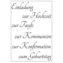 Efco (021) clear stamps Stempel Set - Einladung zur...