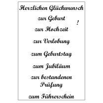 Efco (023) clear stamps Stempel Set - Herzlichen...