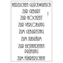 Efco (024) clear stamps Stempel Set - Herzlichen...