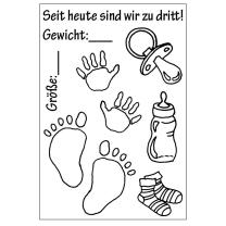 Efco (027) clear stamps Stempel Set - Baby