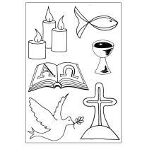 Efco (028) clear stamps Stempel Set - christliche Symbole