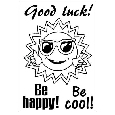 Efco (029) clear stamps Stempel Set - Good luck! - Be happy!