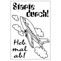 Efco (030) clear stamps Stempel Set - Starte durch! - Heb...