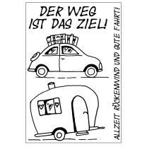 Efco (031) clear stamps Stempel Set - Der Weg ist das...