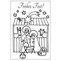 Efco (033) clear stamps Stempel Set - Frohes Fest! -...
