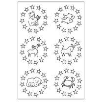 Efco (043) clear stamps Stempel Set - Sternzeichen