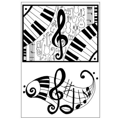 Efco (048) clear stamps Stempel Set - Musik