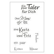 Efco (049) clear stamps Stempel Set - Ein paar Taler...