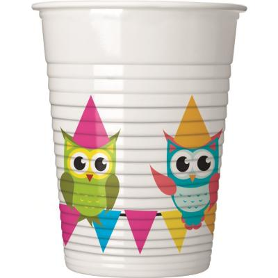 52-teiliges Party-Set Eule My best friend Owl Teller Becher Servietten für 16 Kinder