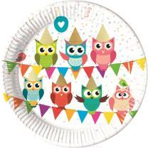52-teiliges Party-Set Eule My best friend Owl Teller...