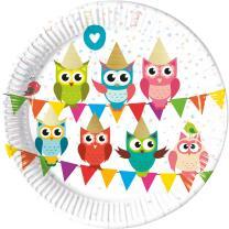 Eule My best friend Owl  - Teller, Pappteller 8...