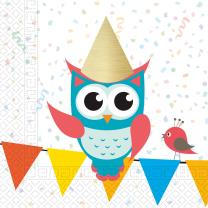 Eule My best friend Owl  - Servietten,  20 Stück, 33...