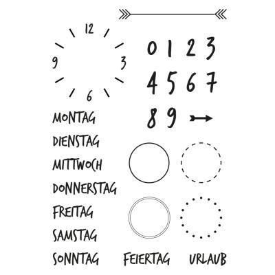 Efco (158) clear stamps Stempel Set - Kalender 2