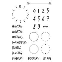 Efco (158) clear stamps Stempel Set - Kalender 2