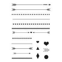Efco (156) clear stamps Stempel Set - Pfeile und Linien