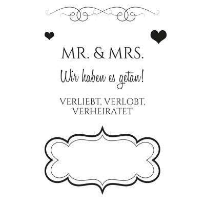Efco (155) clear stamps Stempel Set - Hochzeit 2 Mr. & Mrs.