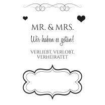 Efco (155) clear stamps Stempel Set - Hochzeit 2 Mr....
