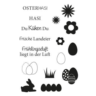 Efco (149) clear stamps Stempel Set - Ostern 3 Hasi Osterhasi