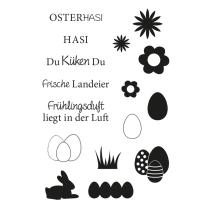 Efco (149) clear stamps Stempel Set - Ostern 3 Hasi...